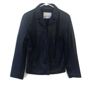 Wilsons Maxima Black Leather Jacket women's large